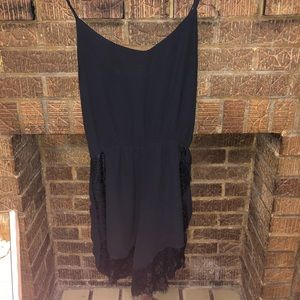 Little black romper with lace detail